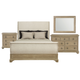 Bernhardt Antiquarian 4pc Sleigh Bedroom Set in Wheat