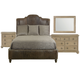 Bernhardt Antiquarian 4pc Upholstered Bedroom Set in Tobacco Leaf