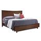 Aspenhome Walnut Heights King Panel Bed in Warm Tobacco IWH-415;IWH-407;IWH-406