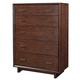 Aspenhome Walnut Heights 5 Drawer Chest in Warm Tobacco IWH-456