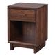Aspenhome Walnut Heights 1 Drawer Nightstand in Warm Tobacco IWH-451N
