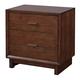 Aspenhome Walnut Heights 2 Drawer Nightstand in Warm Tobacco IWH-450