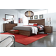 Aspenhome Walnut Heights Panel Storage Bedroom Set in Warm Tobacco IWH-412SET