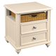 Hammary Camden-Light Side Table in White 920-915