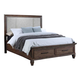 New Classic Carlton Queen Panel Storage Bed in Distressed Oak