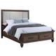 New Classic Carlton California King Panel Storage Bed in Distressed Oak