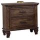 New Classic Carlton 2 Drawer Nightstand in Distressed Oak B7002-040