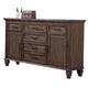 New Classic Carlton 6 Drawer Dresser in Distressed Oak B7002-050