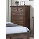 New Classic Carlton 5 Drawer Chest in Distressed Oak B7002-070