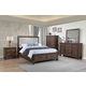 New Classic Carlton 4pc Panel Storage Bedroom Set in Distressed Oak