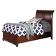 New Classic Youth Jesse Twin Sleigh Storage Bed in Cherry Brown