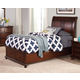 New Classic Youth Jesse Full Sleigh Storage Bed in Cherry Brown