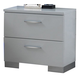 New Classic Sapphire 2 Drawer Nightstand in White B2643-040