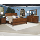 Chaddinfield 4-Piece Sleigh Bedroom Set in Deep Natural Cherry