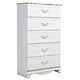 Korabella Drawer Chest in White B355-46