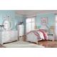 Korabella 4-Piece Youth Panel Bedroom Set in White