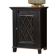Charlowe One Door Nightstand in Black B013-191