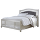 Coralayne Queen Upholstered Panel Bed in in Silver