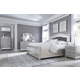 Coralayne 4-Piece Upholstered Panel Bedroom Set in Silver