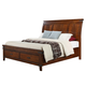New Classic Saratoga King Sleigh Storage Bed in Caramel