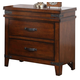 New Classic Saratoga 2 Drawer Nightstand in Caramel B6004-040