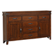 New Classic Saratoga 6 Drawer Dresser in Caramel B6004-050
