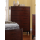 New Classic Sloane 5 Drawer Chest in Caramel B2501-070