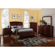 New Classic Sloane 4pc Panel Storage Bedroom Set in Caramel