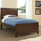 Hillsdale Furniture Bailey Youth Twin Panel Bed in Mission Oak