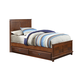 Hillsdale Furniture Bailey Youth Twin Panel with Trundle Bed in Mission Oak