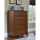 Hillsdale Furniture Bailey 5 Drawer Chest in Mission Oak 1836-785W