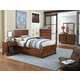 Hillsdale Furniture Bailey 4pc Youth Panel withTrundle Bedroom Set in Mission Oak
