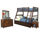 Hillsdale Furniture Bailey 4pc Bunk withTrundle Bedroom Set in Mission Oak