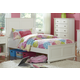 Hillsdale Furniture Bailey Youth Twin Panel Bed in White
