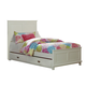 Hillsdale Furniture Bailey Youth Twin Panel with Trundle Bed in White