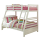 Hillsdale Furniture Bailey Twin/Full Bunk Bed in White