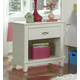 Hillsdale Furniture Bailey 1 Drawer Nightstand in White 1837-771W