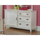 Hillsdale Furniture Bailey 3 Drawer Dresser in White 1837-717W