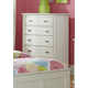 Hillsdale Furniture Bailey 5 Drawer Chest in White 1837-785W