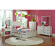 Hillsdale Furniture Bailey 4pc Youth Panel withTrundle Bedroom Set in White