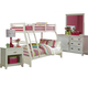 Hillsdale Furniture Bailey 4pc Bunk Bedroom Set in White