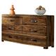 Hillsdale Furniture Madera 6 Drawer Dresser in Natural 1406-717