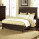 All-American New Orleans Twin Low Profile Sleigh Bed in Antique Merlot