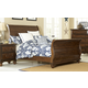 Hillsdale Furniture Pine Island Queen Sleigh Bed in Dark Pine