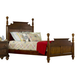 Hillsdale Furniture Pine Island King Poster Bed in Dark Pine