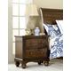 Hillsdale Furniture Pine Island 2 Drawer Nightstand in Dark Pine 1215-771