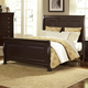 All-American French Market Queen Sleigh Bed in Antique Merlot