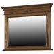 Hillsdale Furniture Pine Island Mirror in Dark Pine 1215-722