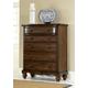 Hillsdale Furniture Pine Island 5 Drawer Chest in Dark Pine 1215-785
