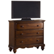 Hillsdale Furniture Pine Island 3 Drawer TV Chest in Dark Pine 1215-790